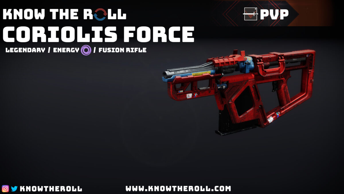 Coriolos Force PVP God Roll