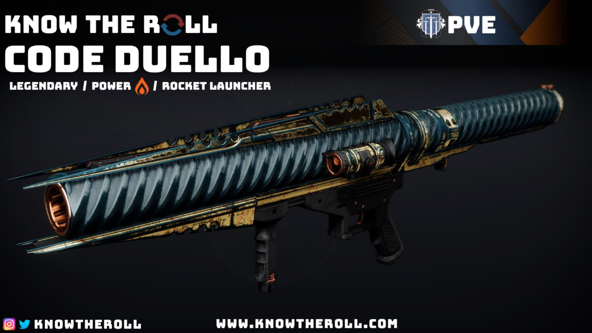 Code Duello PVE God Roll Name