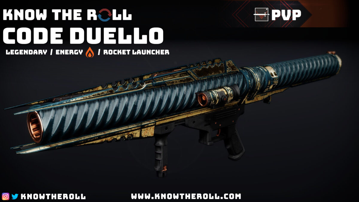 Code Duello PVP God Roll Name