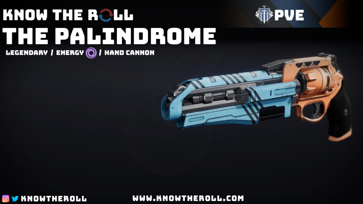 The Palindrome PVE God Roll Name