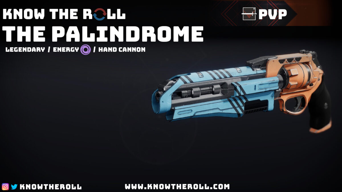 The Palindrome PVP God Roll Name