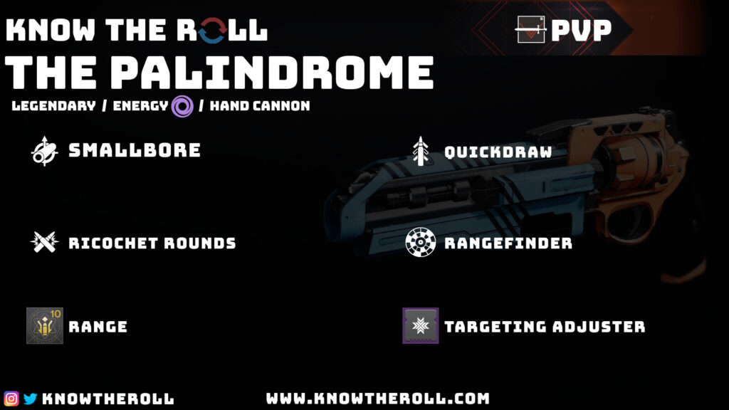The Palindrome PVP God Roll Stat