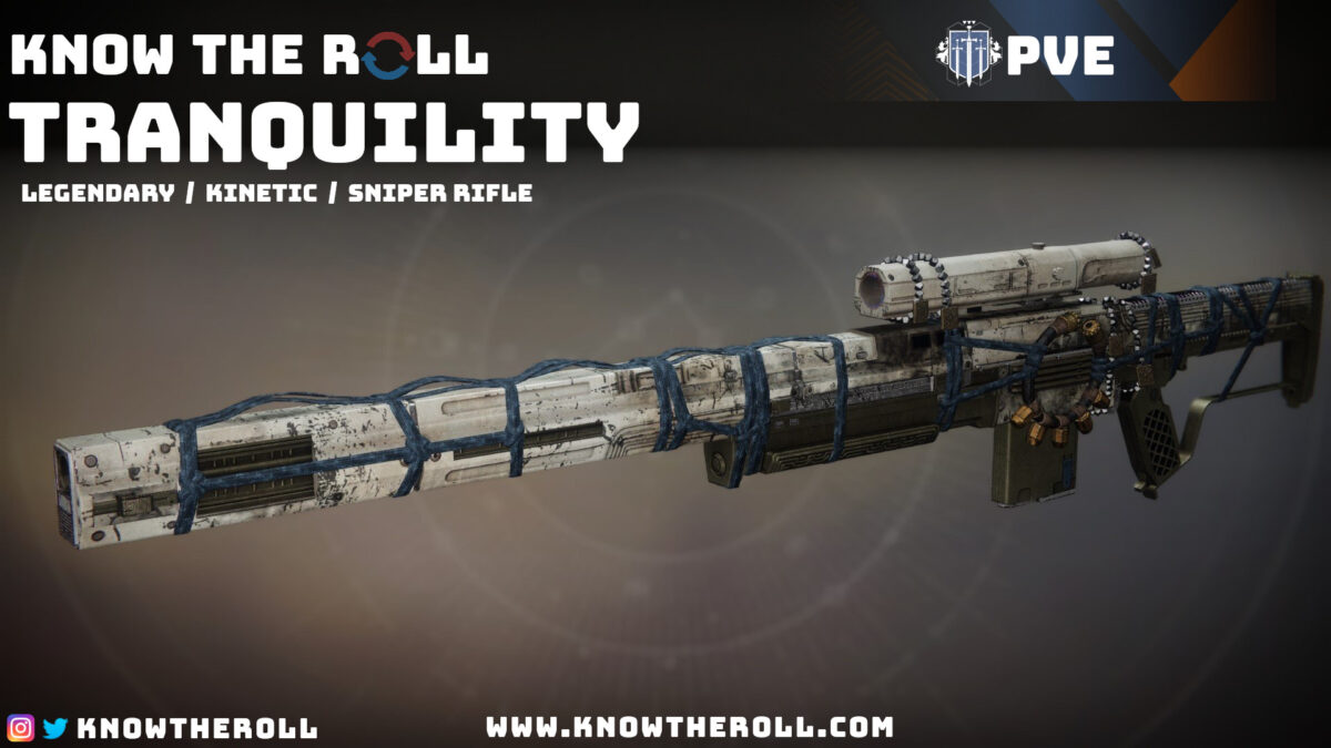 Tranquility PVE God Roll