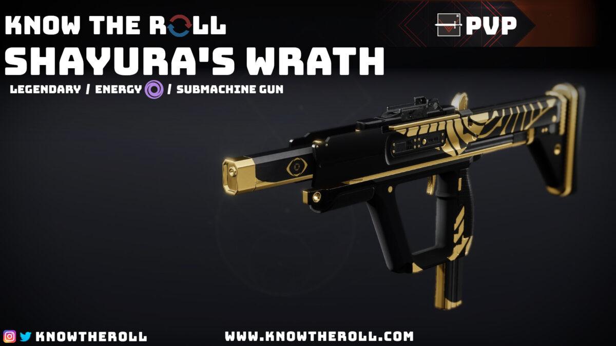 Shayuras Wrath PVP God Roll